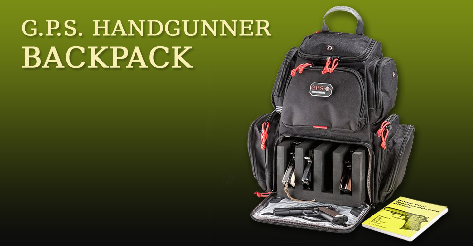 GPS Handgunner Backpack for multiple pistols, magazines and accessories