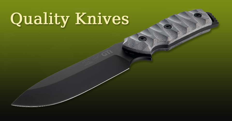 Carrying a full line of quality knives for hunting or tactical